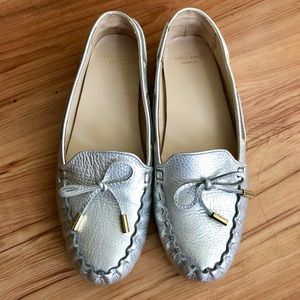 Shoes - ✨Silver✨Cole Haan Driving Loafers